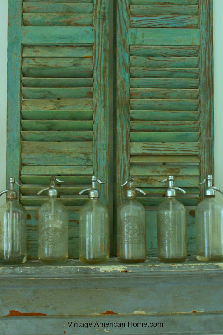 Antique Seltzer Water Bottle Vintage American Home