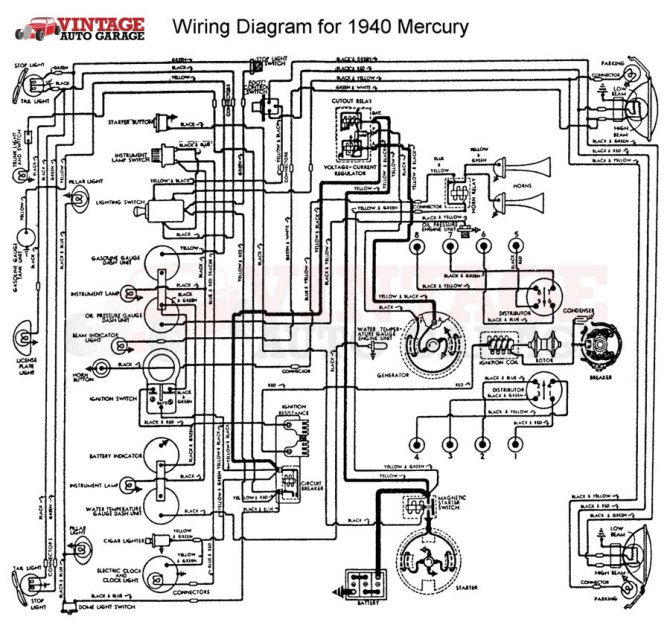 1940 mercury wiring diagram  pietrodavicoit power