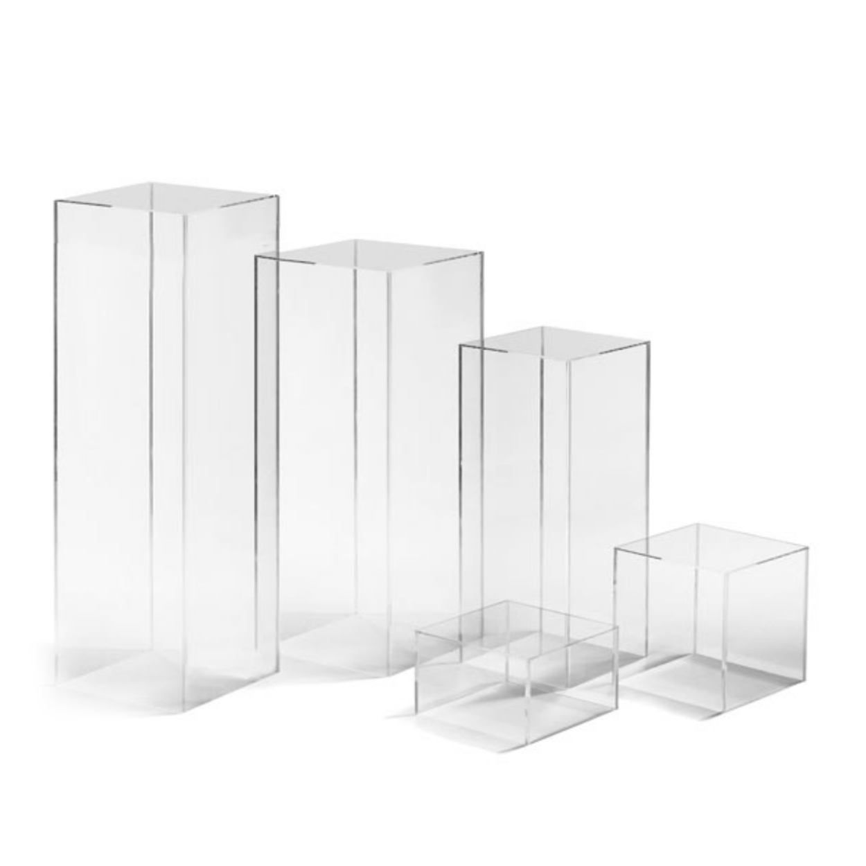 Acrylic Clear Column Stand Pedestal Rental