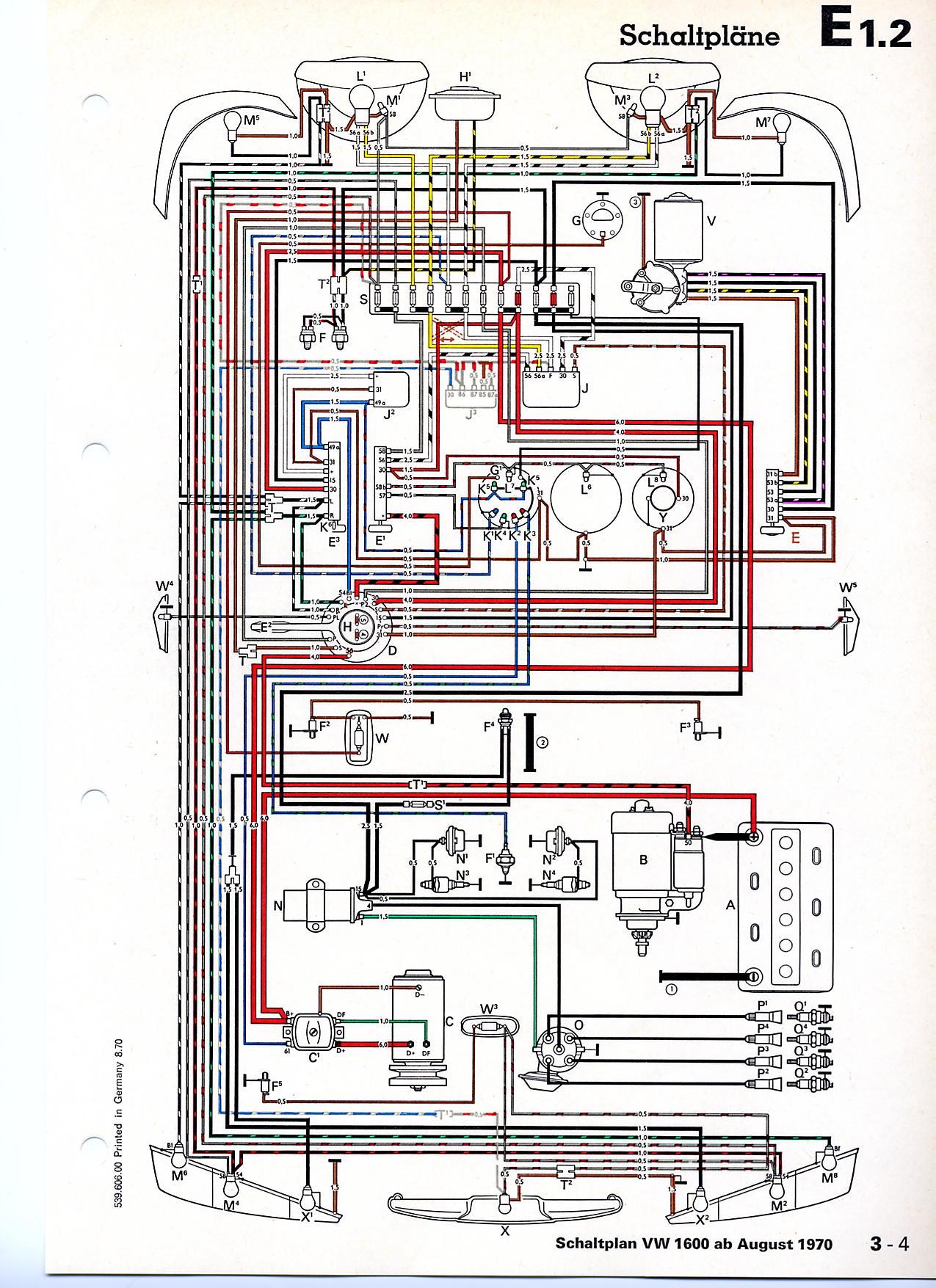 Schön 73 Vw Käfer Schaltplan Fotos - Schaltplan Serie Circuit ...