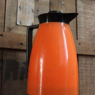 Bouteille Thermos orange seventies