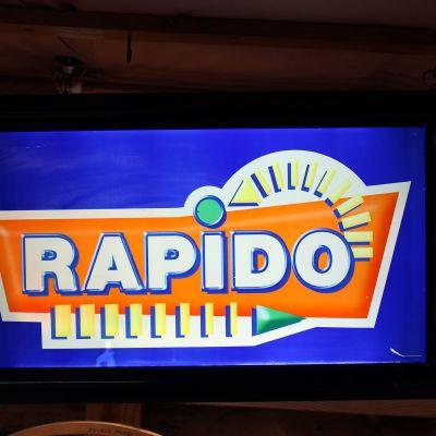 enseigne lumineuse Rapido FDJ - 1990