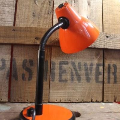 Lampe à poser orange vintage