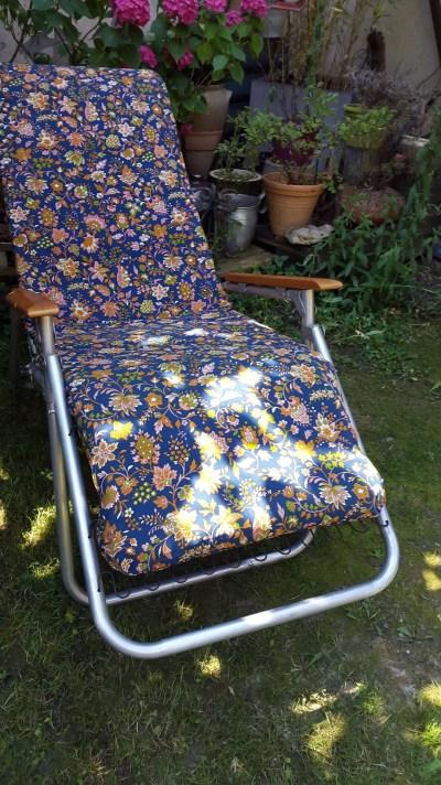 Fauteuil relax de jardin vintage