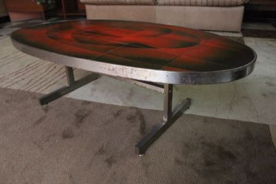 Table basse céramique vallauris 1960