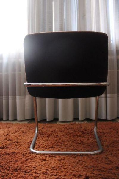 fauteuil de bureau structure chromée en S