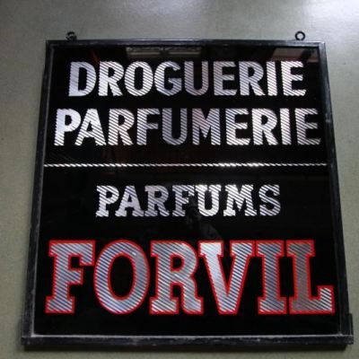 Ancienne enseigne parfum Forvil