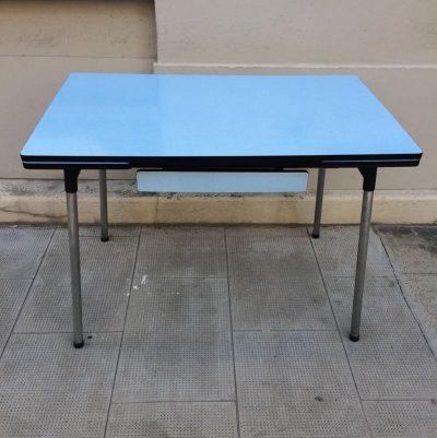 Table formica pieds chromé
