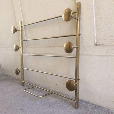 Porte manteaux métal doré vintage