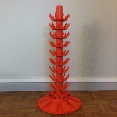 Hérisson à bouteilles plastique orange vintage