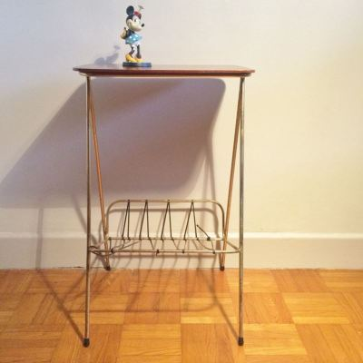 Table porte revues vintage