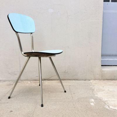 Chaise formica pieds fuselés