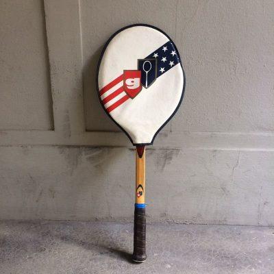 Raquette Tennis Garcia Cragin cadre bois vintage