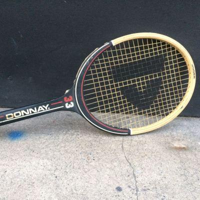 Ancienne Raquette tennis Donnay cadre bois vintage