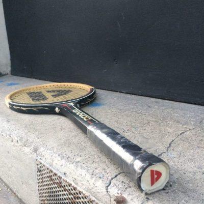 Raquette tennis Donnay cadre bois vintage