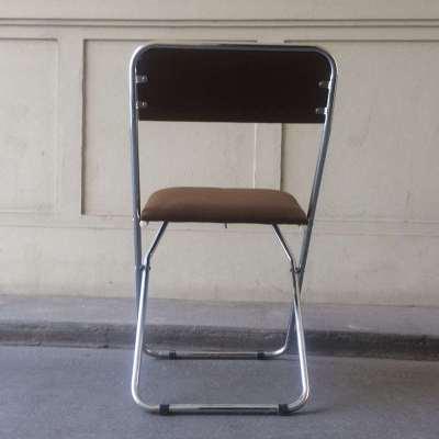 Chaise pliante marron vintage