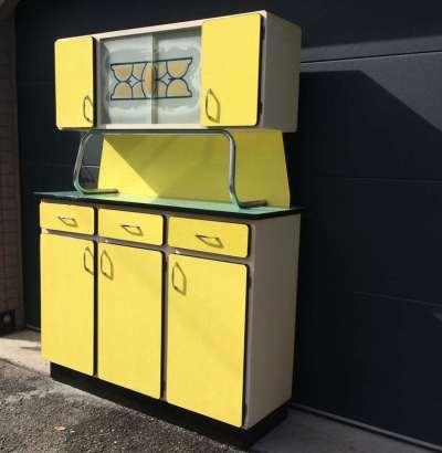 Buffet 3 portes formica jaune