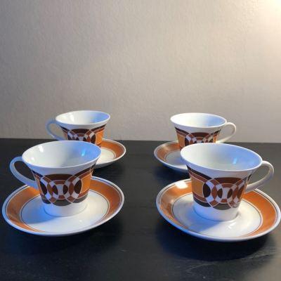 Tasses à café vintage années 70