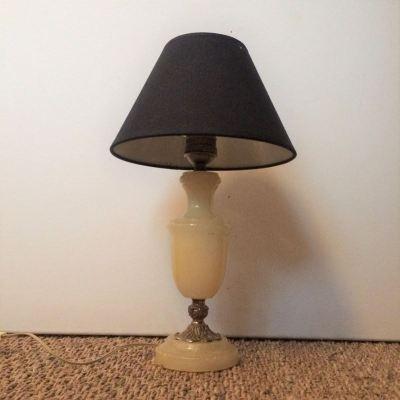 Lampe de chevet vintage abat jour noir