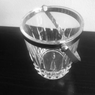 Seau à glace cristal vintage