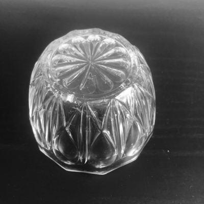Sucrier vintage verre moulé