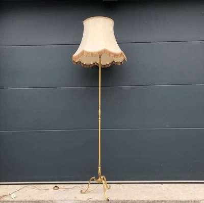 Lampadaire Art Déco laiton doré vintage
