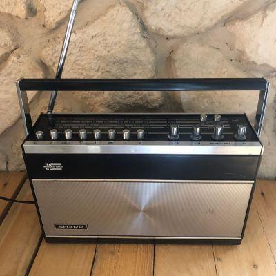 radio vintage sharp made in japan