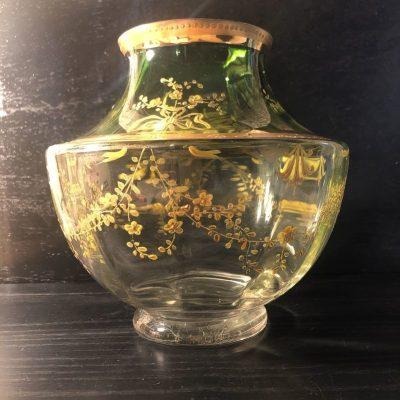 Vase art nouveau cristal de boheme