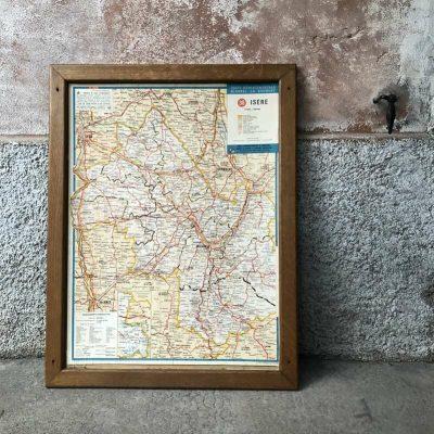 Ancienne carte départementale isère Blondel la Rougery