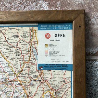 carte départementale isère vintage