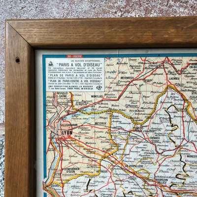 Ancienne carte départementale isère 1970