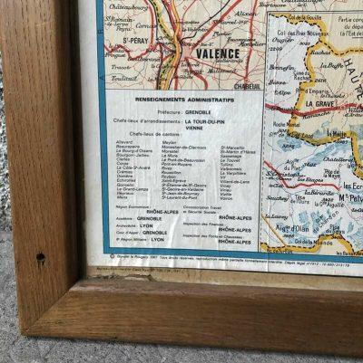 Ancienne carte départementale isère 1960