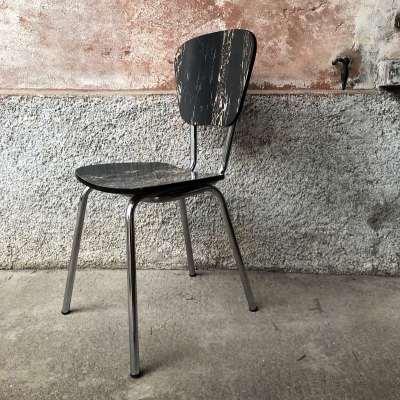 chaise vintage pied chromé