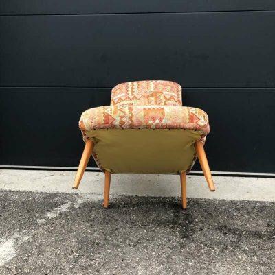 Fauteuil chauffeuse design scandinave vintage