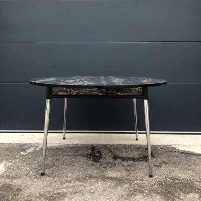 Table à manger formica noir vintage