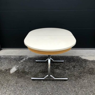 Table formica ovale vintage