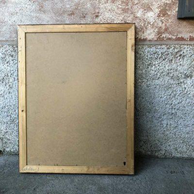 Ancien cadre doré tableau noir craie