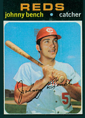 1971 Topps Johnny Bench 250 Baseball Card Value Price Guide