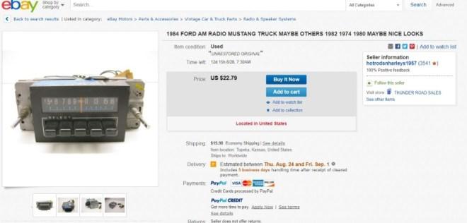 vintage radio seller