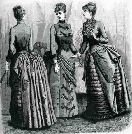 Image result for bustle  clothing victorian