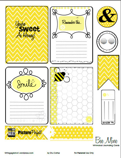 Beemine | Free journaling cards & elements printable, free for personal use