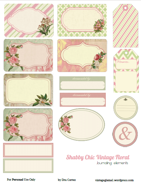 photograph about Free Printable Shabby Chic Paper known as Absolutely free Printable Down load - Shabby Stylish Floral Journaling