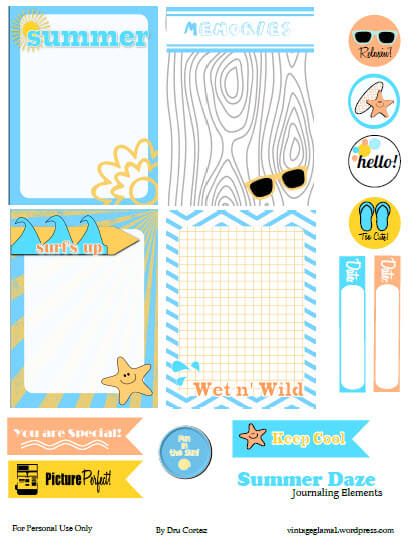 journaling elements and journaling cards