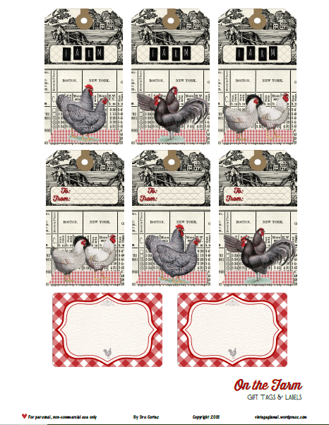 Free Printable Download - On The Farm Tags and Labels