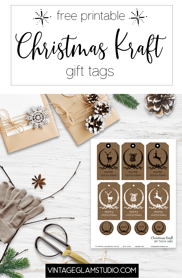 kraft gift tags and labels