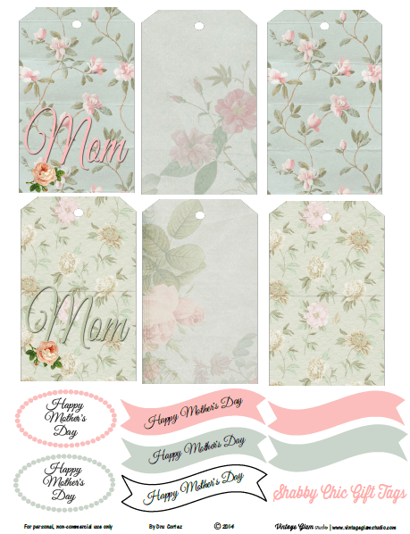 Mothers Day tags printable
