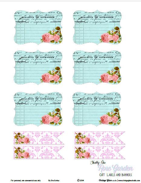 photo regarding Free Printable Shabby Chic Paper identify Absolutely free Printable Down load - Shabby Stylish Banner Alpha - Common