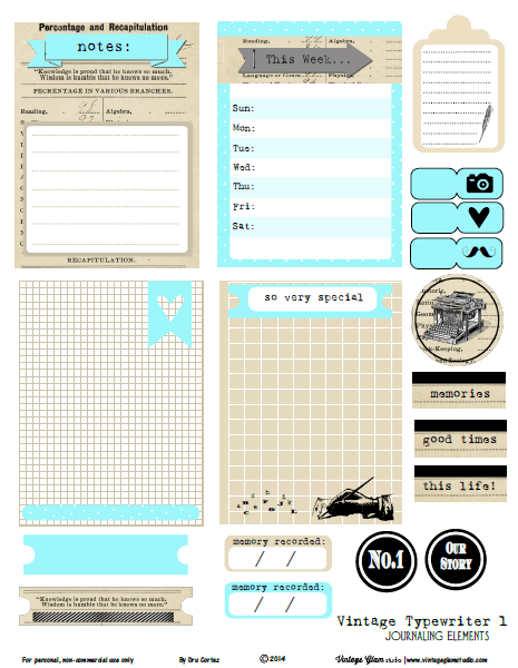 It is a graphic of Free Printable Journaling Cards in journal