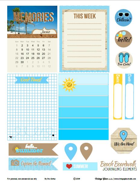 beach journaling elements