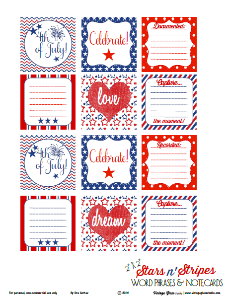 tiny notecards printable